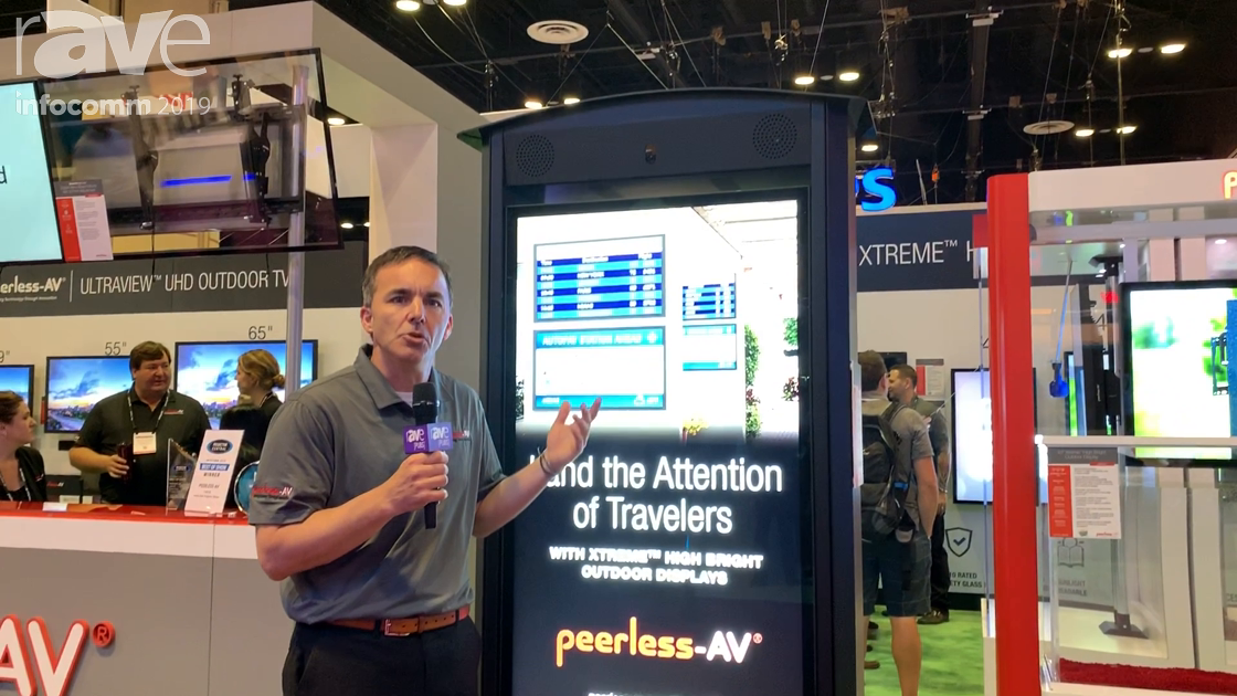 InfoComm 2019: Peerless-AV Intros IP68 Outdoor Back-to-Back Digital Signage Kiosk With Two Cameras