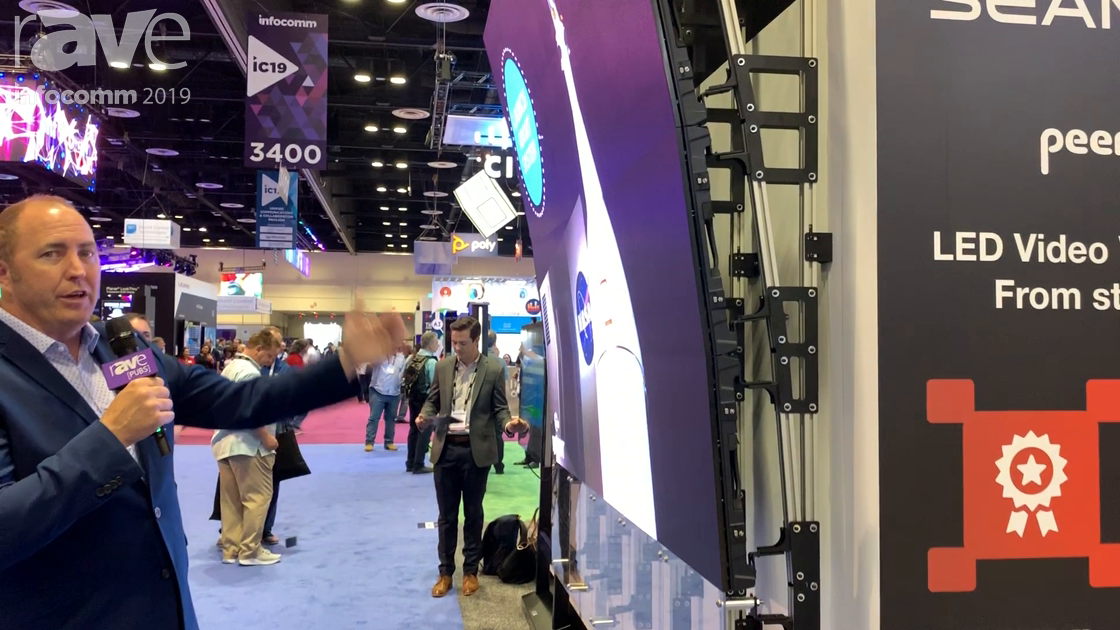 InfoComm 2019: Peerless-AV Highlights Its Curved DvLED Display Mounting System