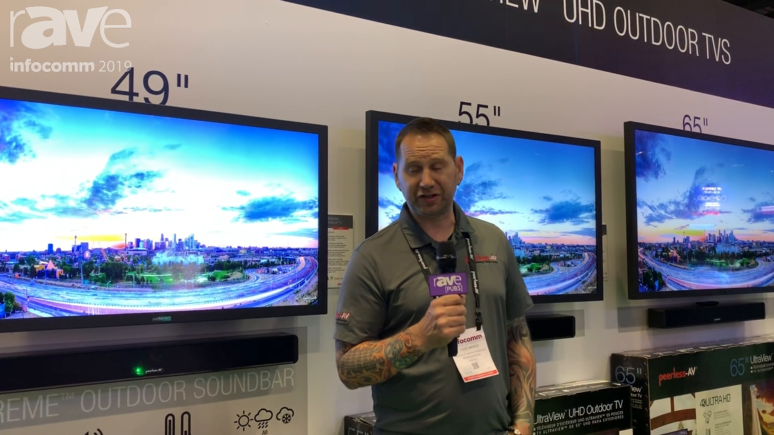 InfoComm 2019: Peerless-AV Features the IP55-Rated UltraView UHD Outdoor TVs
