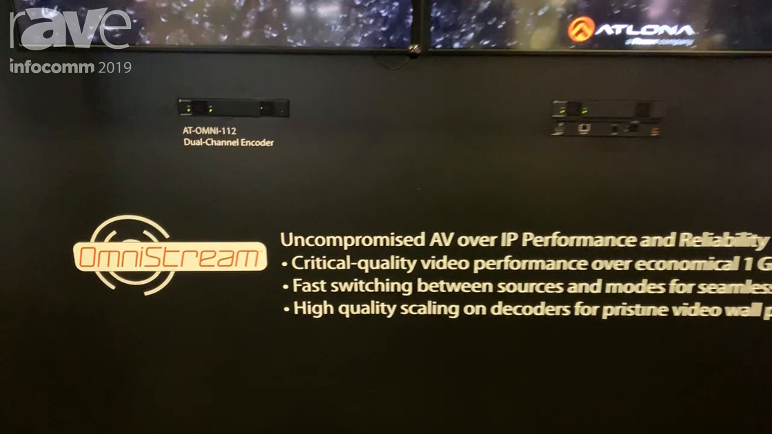 InfoComm 2019: Atlona Demos AT-OMNI-112 Dual Channel Video Wall Encoder With Image Rotation