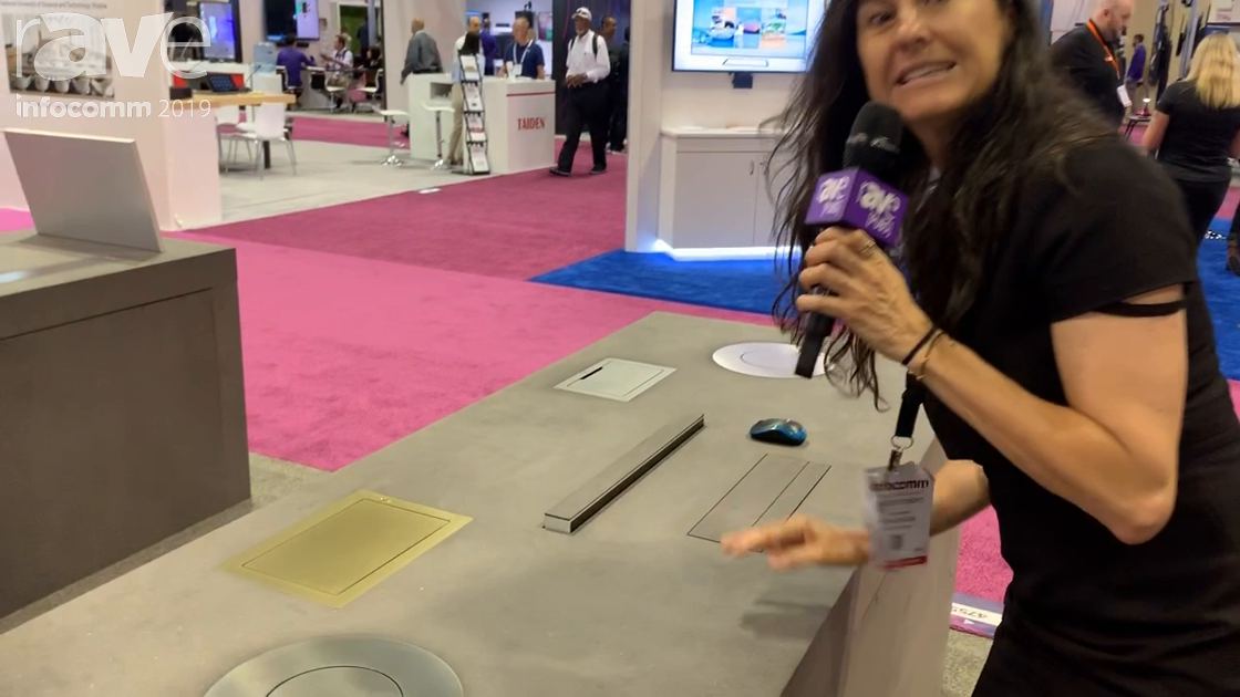 InfoComm 2019: Arthur Holm Intros Dynamic, Motorized Active Speaker That Can Be Hidden in Tables