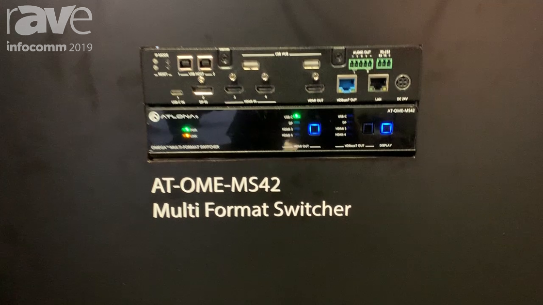 InfoComm 2019: Atlona Intros AT-OME-MS42 Multi-Format Matrix Switcher