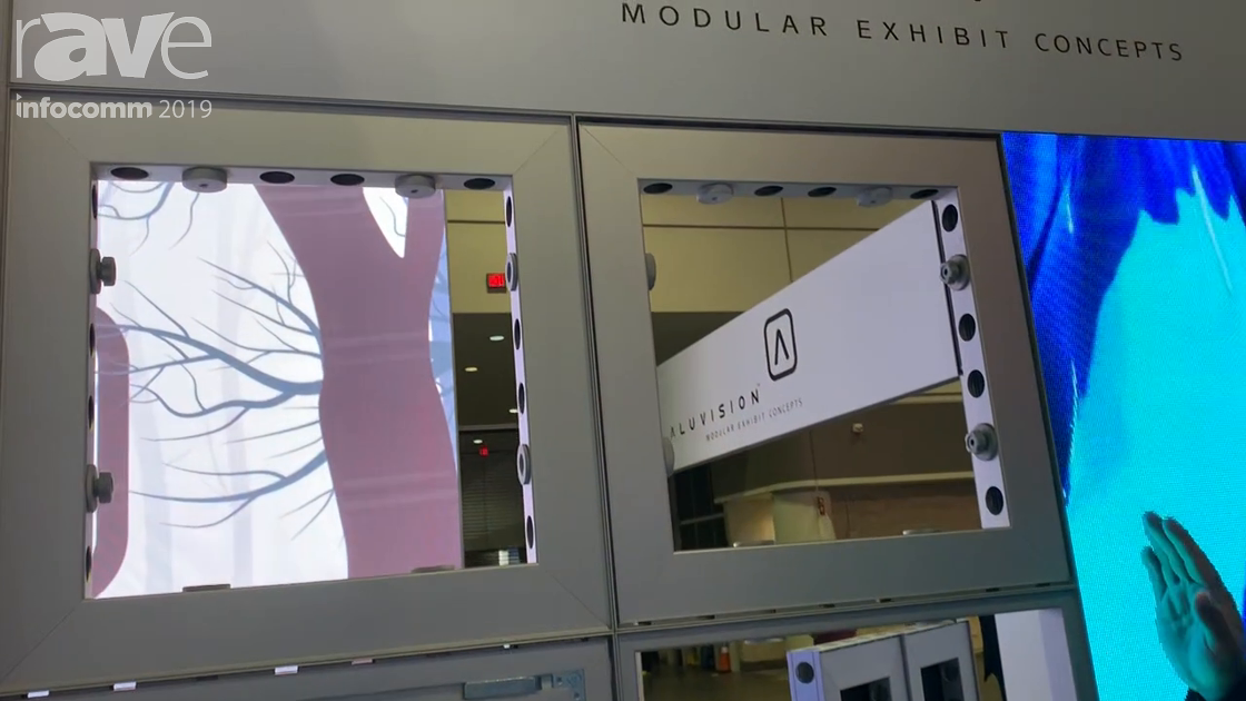 InfoComm 2019: Aluvision Shows How the Tool-less Omni-55 LED Tile Modular Frame System Works