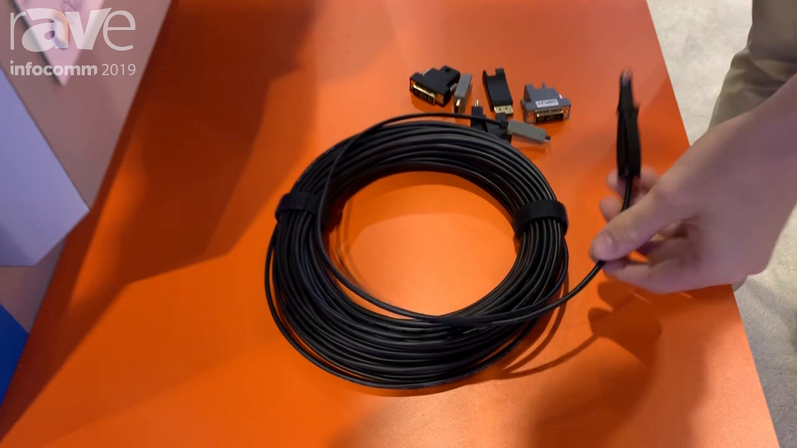 InfoComm 2019: Covid Explains Flexible Modular Fiber HDMI Cable for 18Gbps Signal Transport