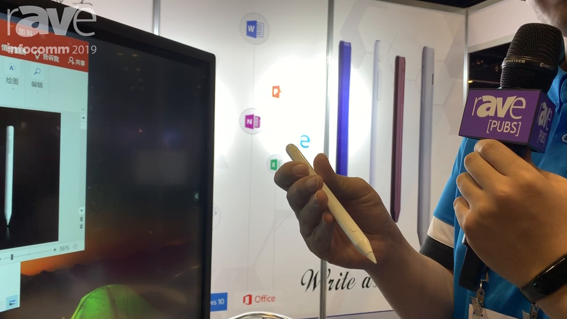InfoComm 2019: Kogatouch Demos Its Skizze Smart Pen for IR Interactive Touch Panels
