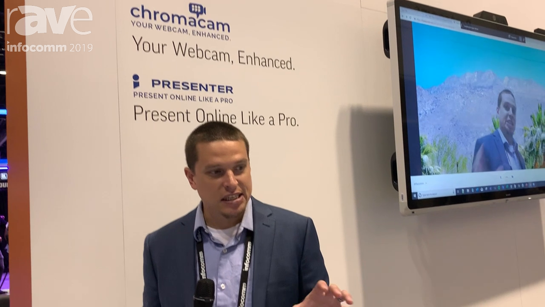 InfoComm 2019: Personify Demos Its Chromacam Virtual Greenscreen for Changing Presenter Backgrounds
