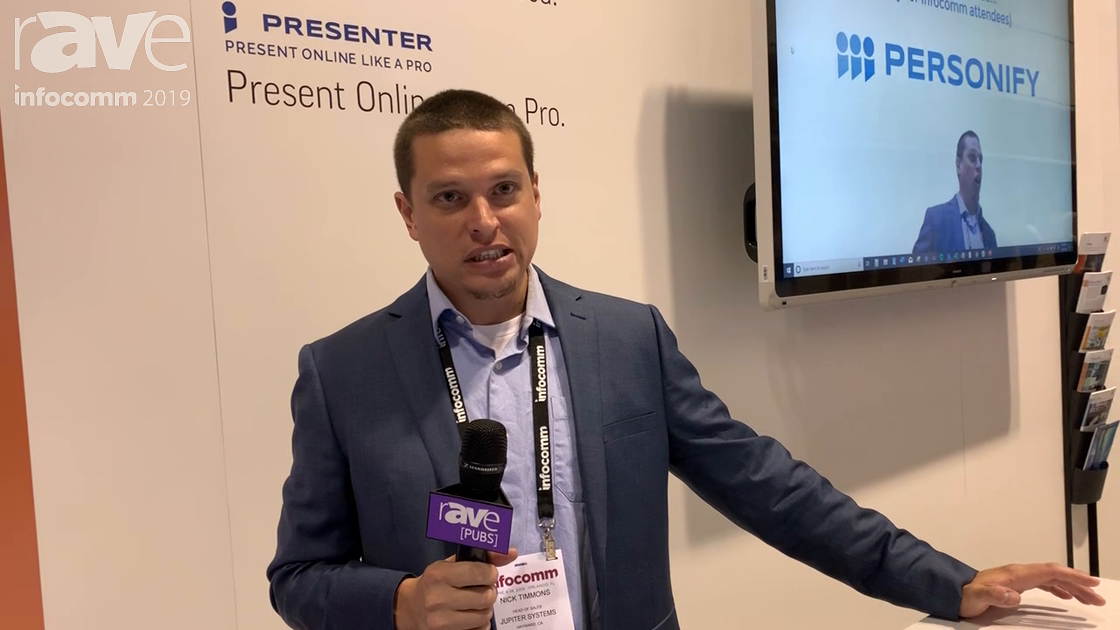 InfoComm 2019: Personify Shows Its Presenter Virtual Greenscreen Using Machine Learning