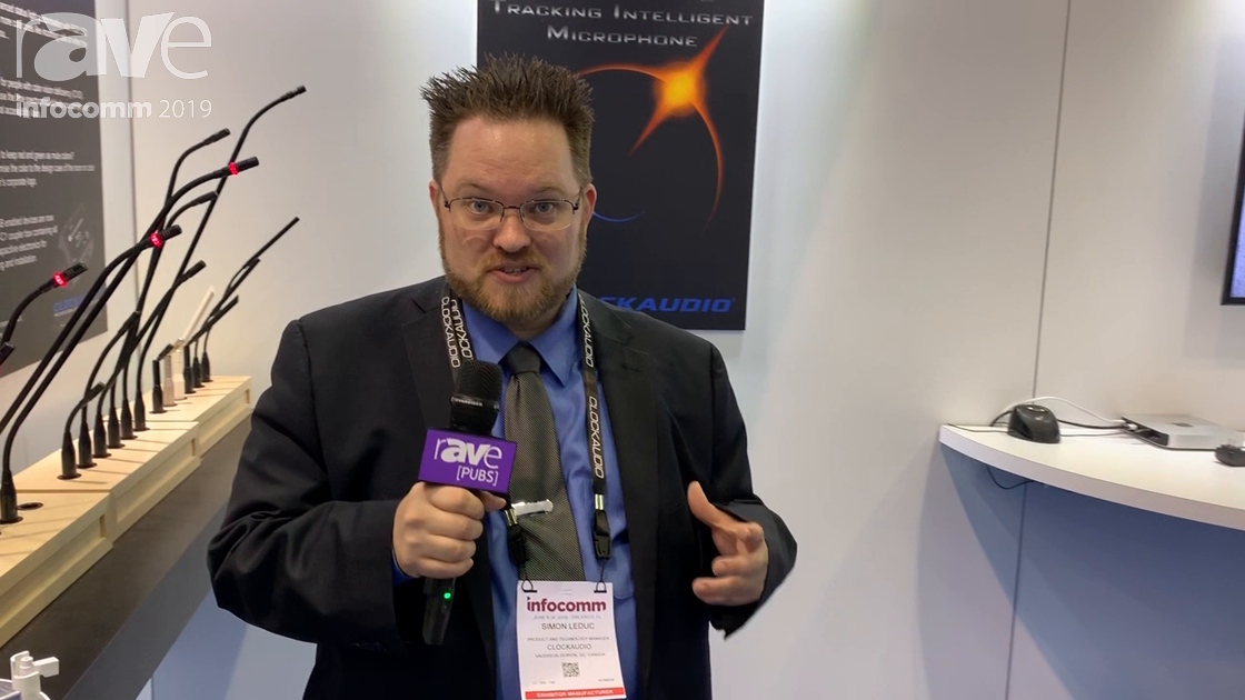 InfoComm 2019: Clockaudio Features TIM 1000 Tracking Intelligence Microphone