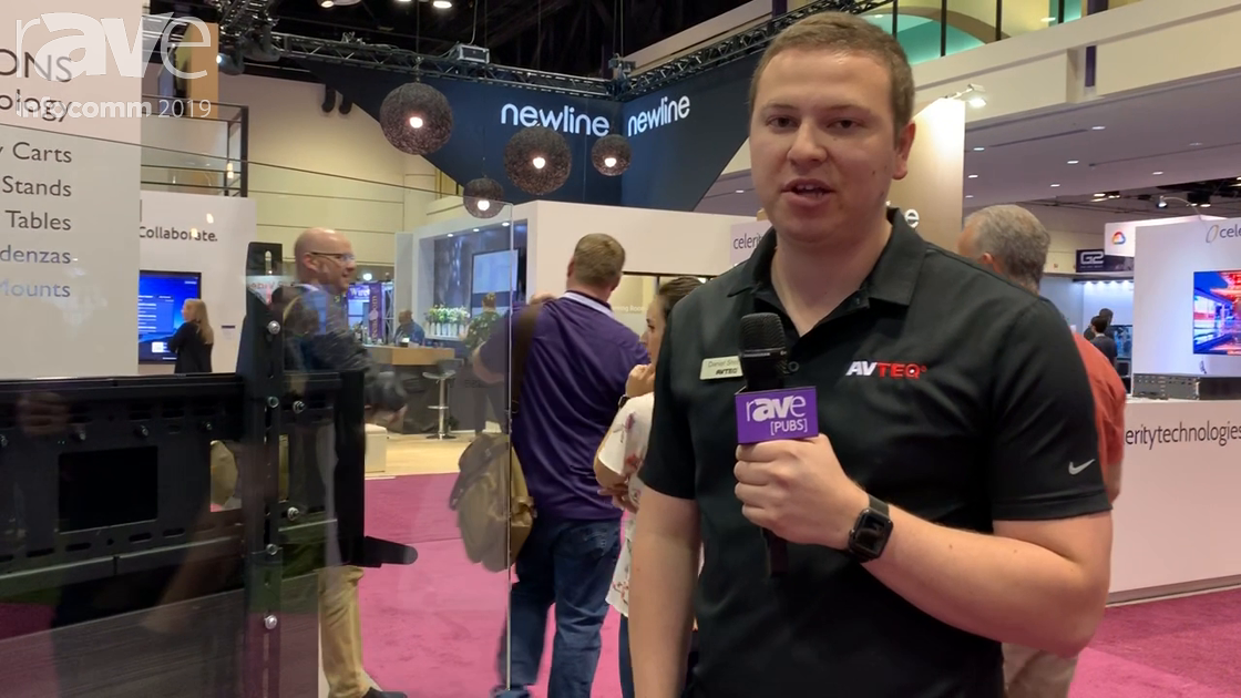 InfoComm 2019: AVTEQ Features Its Dynamic Executive Motorized, Height-Adjustable Cart