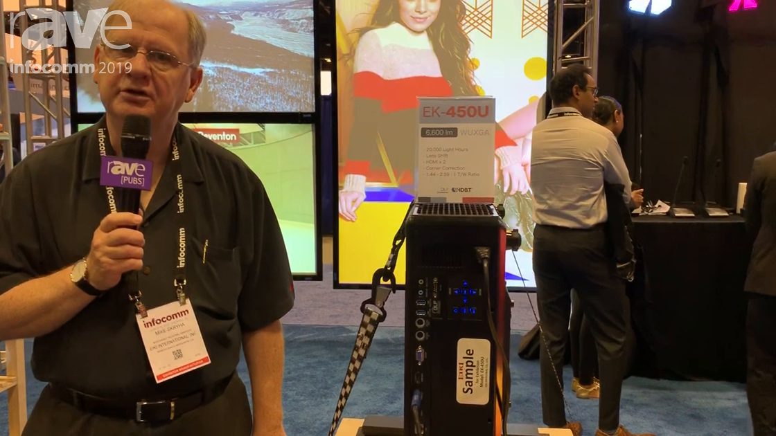 InfoComm 2019: Eiki Intros EK-450U Notebook-Body Laser Projector With 4K Scaling