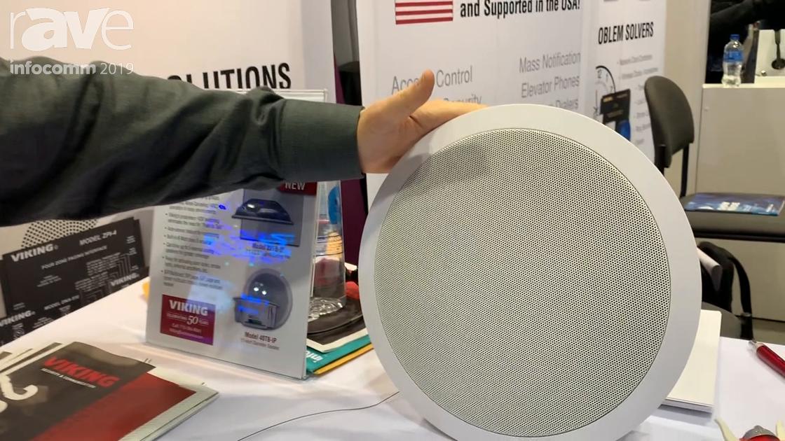 InfoComm 2019: Viking Electronics Shows 40TB-IP Talkback SIP Speaker