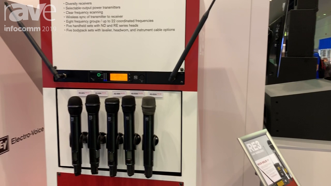 InfoComm 2019: Bosch Security Intros RE3-UHF Wireless Family of Microphones for Live Performance