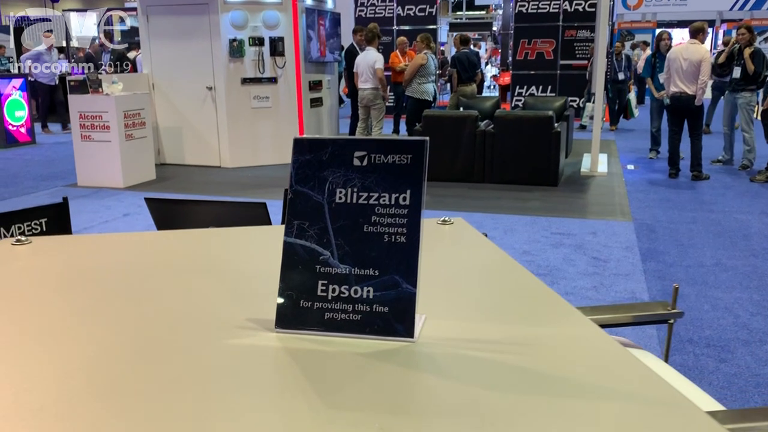 InfoComm 2019: Tempest Showcases Blizzard Outdoor Projector Enclosure