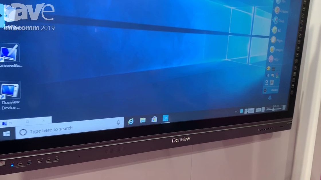 InfoComm 2019: Donview Demos Its 65″ Capacitive Interactive Touch Flat Panel