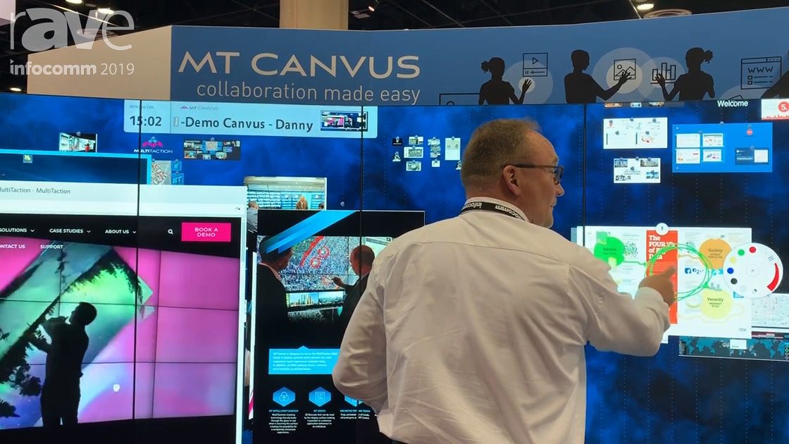 InfoComm 2019: MultiTaction Demos Its MT Canvus Display System for Interactive Workspaces