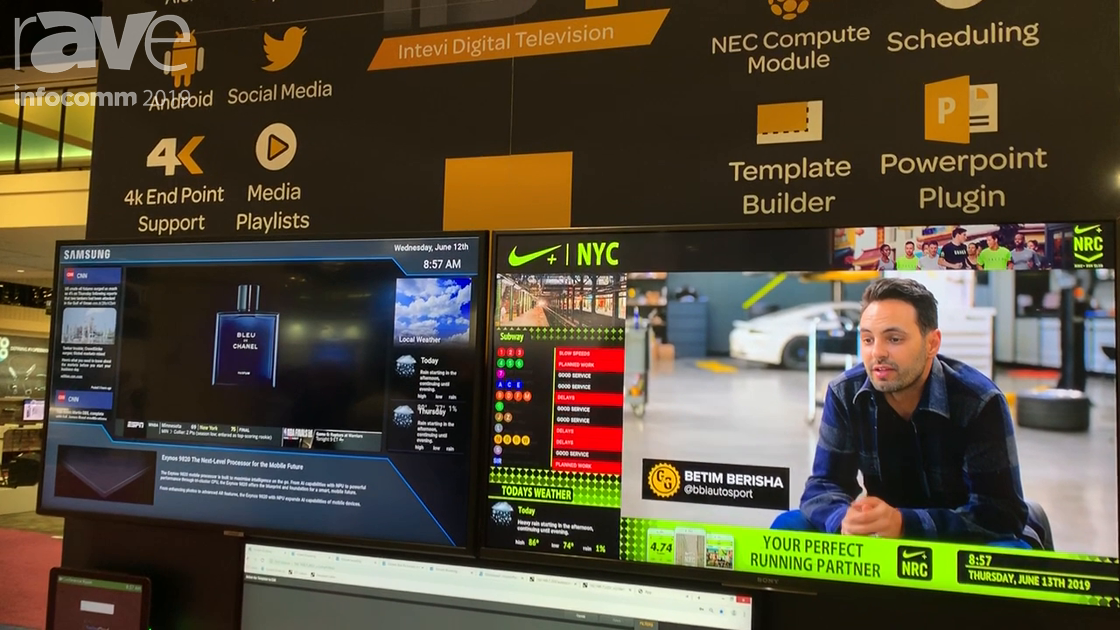 InfoComm 2019: Intevi Features Digital Television Platform Combines Digital Signage and IPTV