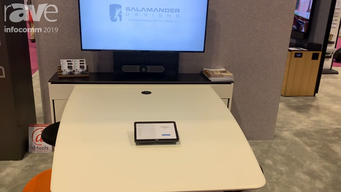 InfoComm 2019: Salamander Designs Intros New Unifi Huddle Station for Huddle Rooms
