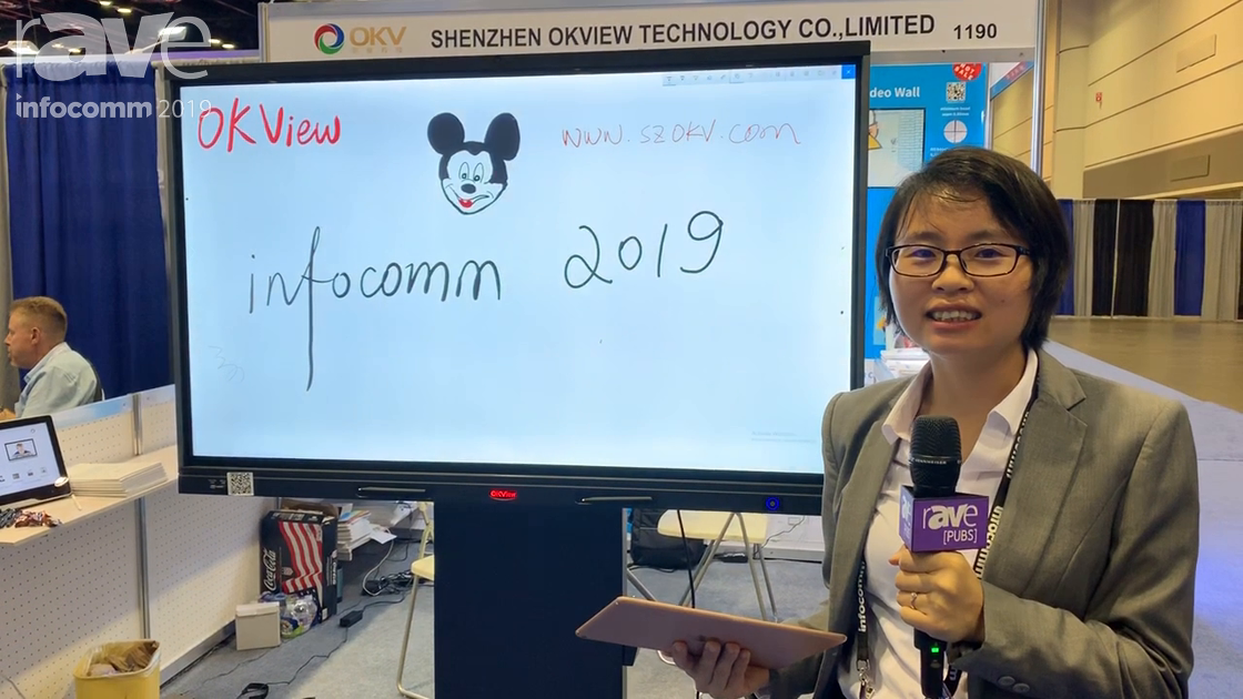 InfoComm 2019: Shenzhen Okview Technology Features Its OKView Interactive Touch Board