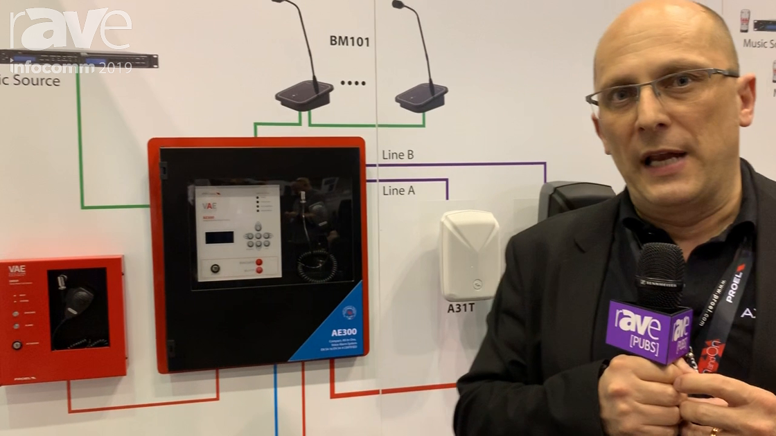 InfoComm 2019: Proel Spa Showcases the AE300 Compact, All-in-One Voice Alarm System