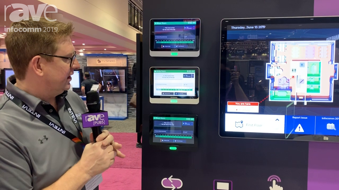 InfoComm 2019: Intevi Demos Intevi Digital Booking System With Integrated Badge Access and Sensors