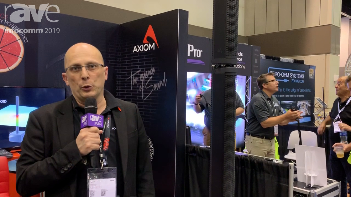 InfoComm 2019: Proel Spa Features Axiom AX12C Passive Column Speaker