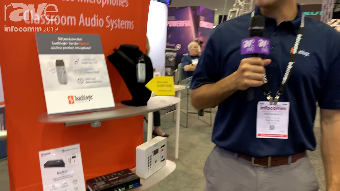 InfoComm 2019: TeachLogic Shows Off Its Matrix Sound Field System With Amp, IR Mic Receiver, Mixer
