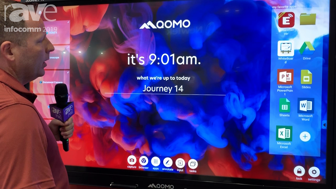 InfoComm 2019: Qomo Launches Its New Journey 14 4K Interactive Panel With Android and 14-Point Touch