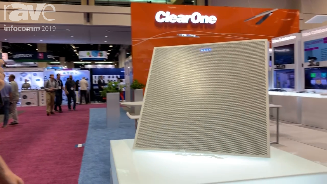 InfoComm 2019: ClearOne Intros BMA-CT PoE Beam-Steering Ceiling Microphone Array