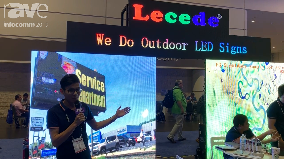 InfoComm 2019: Shenzhen Lecede Features P3.9 Outdoor LED Display for Rental and Staging