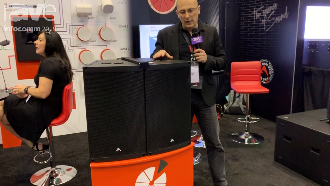InfoComm 2019: Proel Spa Exhibits the Axiom AX1012A Curvature Large-Size Speaker