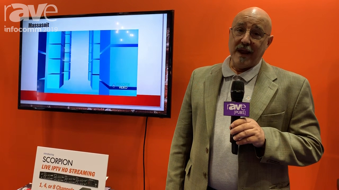 InfoComm 2019: Discover Video Demos Digital Signage Using Its Sign Stick