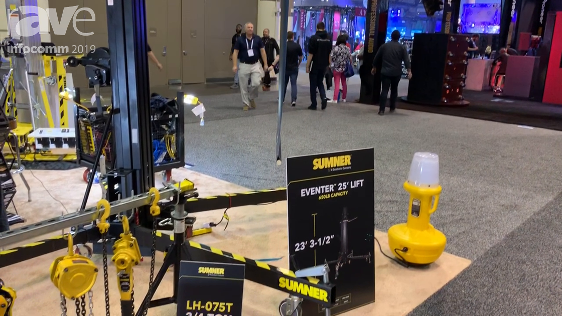 InfoComm 2019: Southwire Showcases Sumner Eventer 25, a 25-Foot Lift With 600-Lb. Lifting Capacity