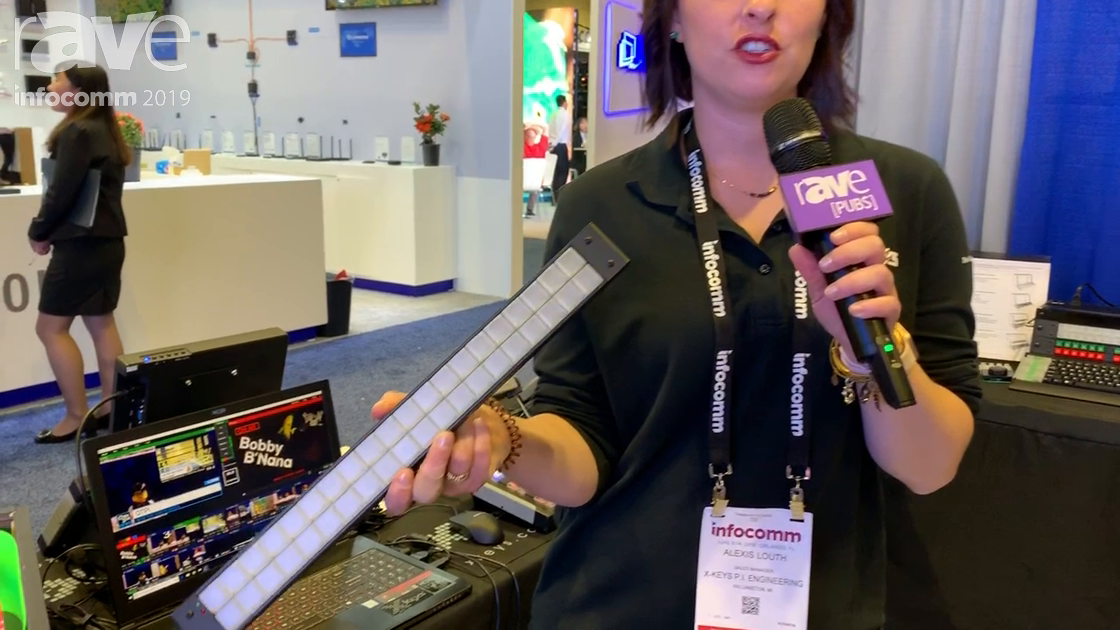 InfoComm 2019: P.I. Engineering's Xkeys Shows Its XKE-40 Programmable Keys for Macro Control