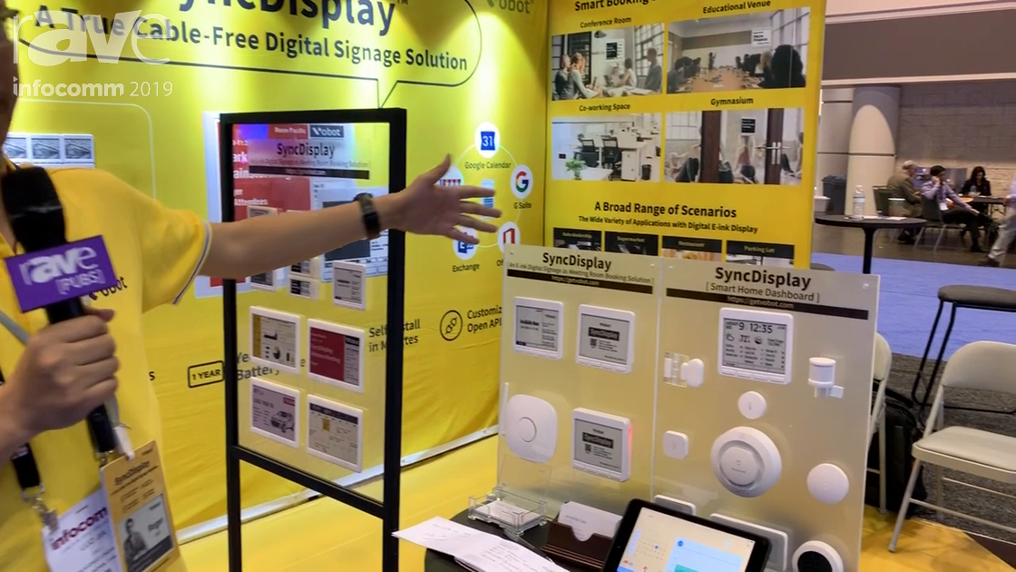 InfoComm 2019: Vobot Presents Sync, an E-Ink, Battery-Powered Cable-Free Room Booking Display