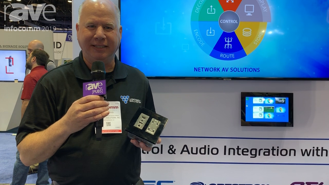 InfoComm 2019: Visionary Solutions Showcases Its Duet Wall Plate Encoder for 1GB JPEG2000 AV-Over-IP