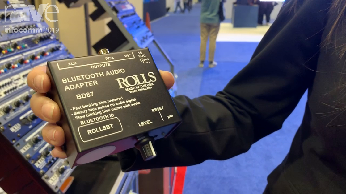 InfoComm 2019: Rolls Corporation Presents Its BD87 Bluetooth Direct Audio Adapter