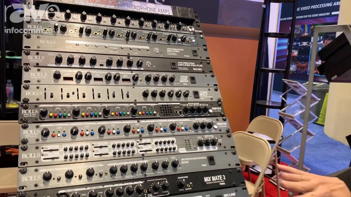 InfoComm 2019: Rolls Corporation Intros the RM 316 Three-Zone Audio Mixer