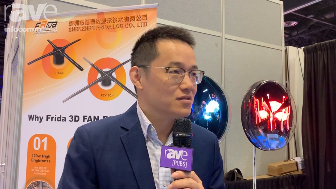 "InfoComm 2019: Shenzhen Frida Showcases Its 3D ""Hologram"" Fan LED Display"