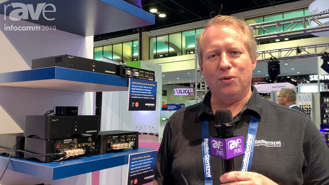 InfoComm 2019: AudioControl Features Rialto 400 Small Zone Amplifier With Analog and Balanced Inputs