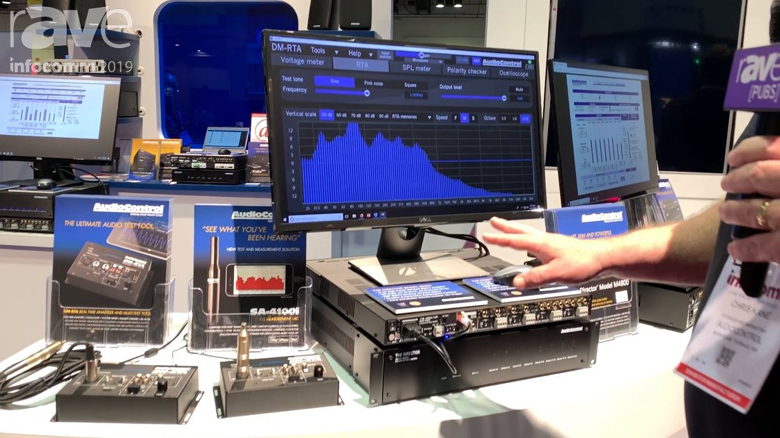 InfoComm 2019: AudioControl Shows DM-RTA Room Correction Measurement Processor, Pre-Amp and Software