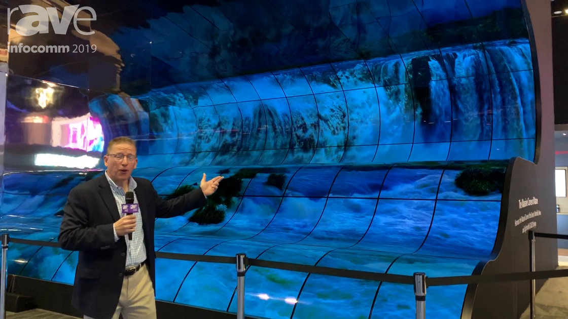 InfoComm 2019: LG Shows Off Open Frame OLED in Stunning Waterfall Arrangement