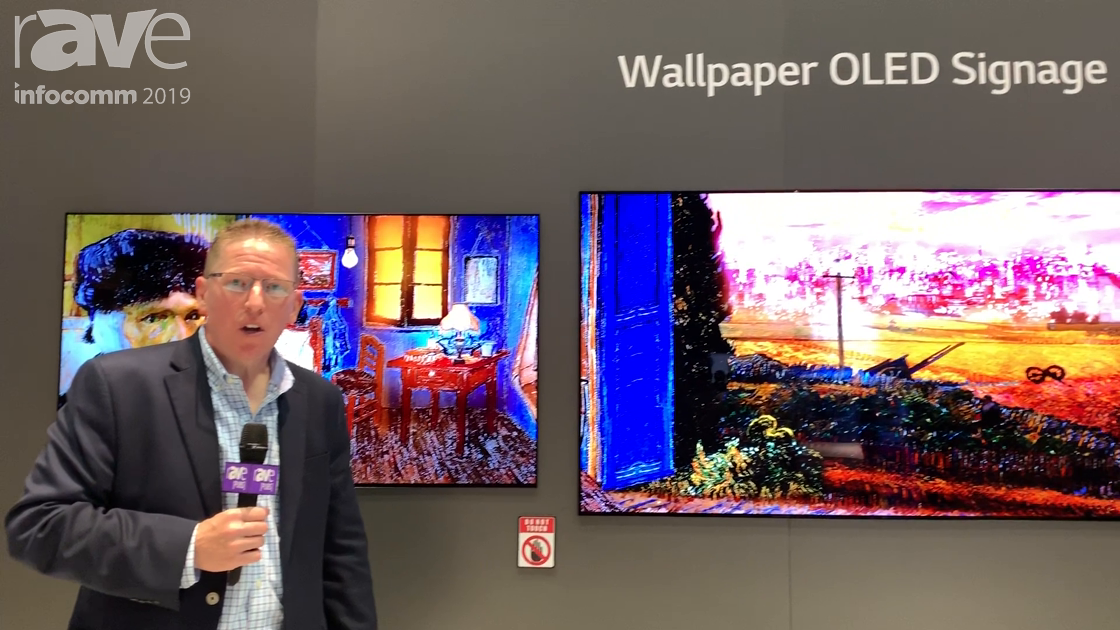 InfoComm 2019: LG Showcases Its Extremely Thin Wallpaper OLED Signage Displays