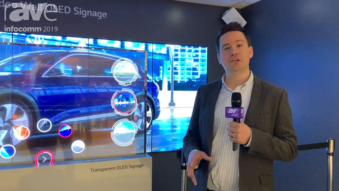 InfoComm 2019: LG Demos Transparent OLED Display in ZeroLight Car Design Application Rendered in 10K