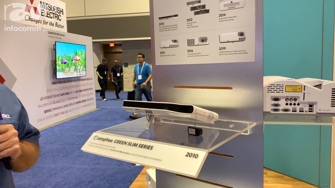 InfoComm 2019: Casio Introduced Its First LampFree Projector, the Green Slim Series, in 2010