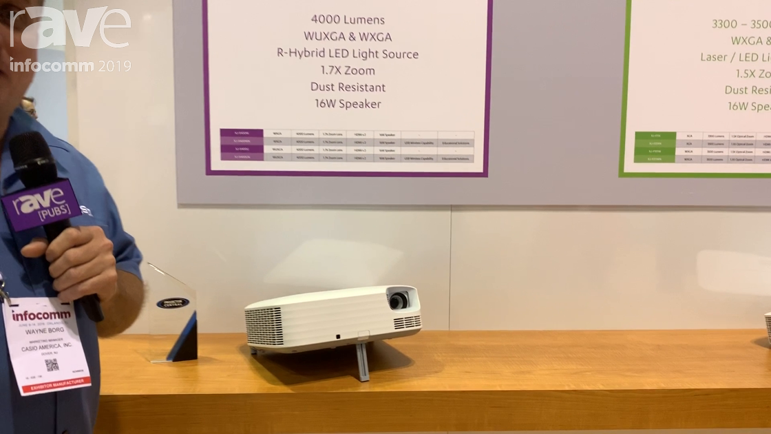 InfoComm 2019: Casio Adds Superior Series of Lamp Free Projectors With 1.7x Zoom