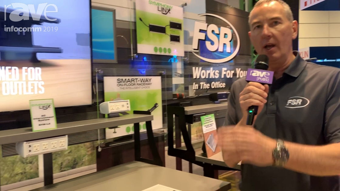 InfoComm 2019: FSR's Symphony Linx System Adds Easy Power and Low Voltage to Sit/Stand Desks