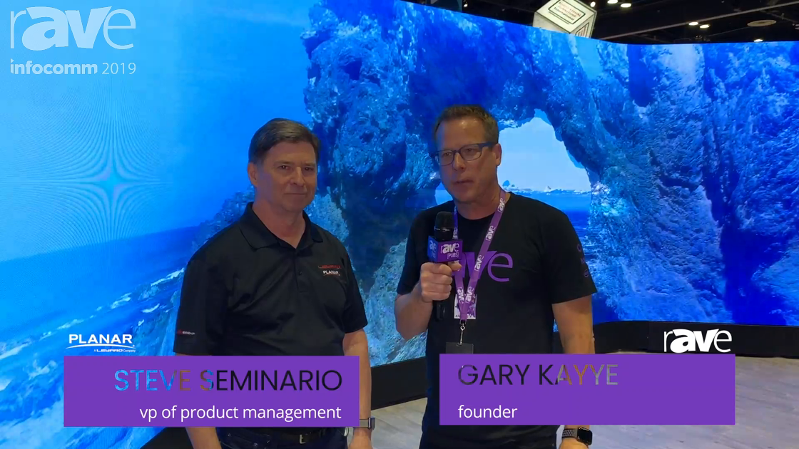 InfoComm 2019: Steve Seminario of Leyard Planar Takes Gary Kayye on a Booth Tour