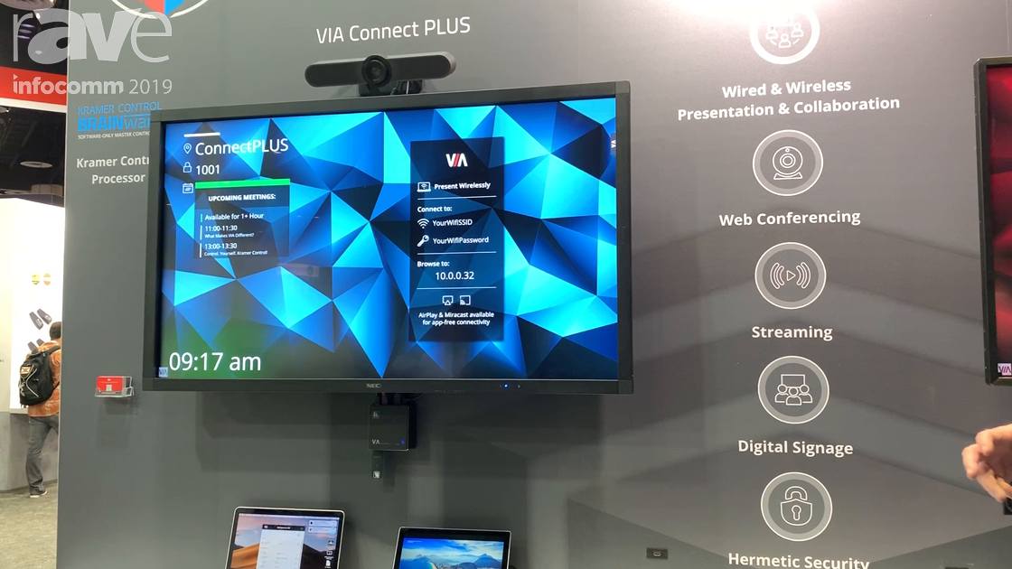 InfoComm 2019: Kramer Adds Multiple Functions to VIA Such as Digital Signage, Web Conferencing, More