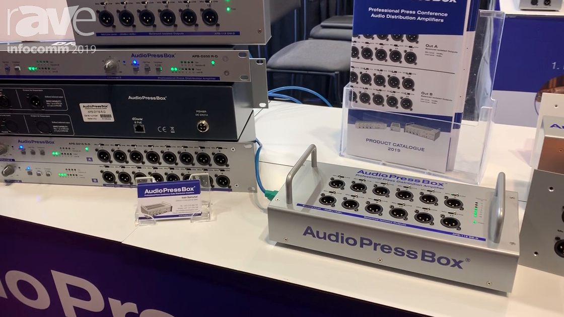 InfoComm 2019: AudioPressBox Intros New APB-112SB-D and APB-112OW-D Dante-Enabled Press Boxes