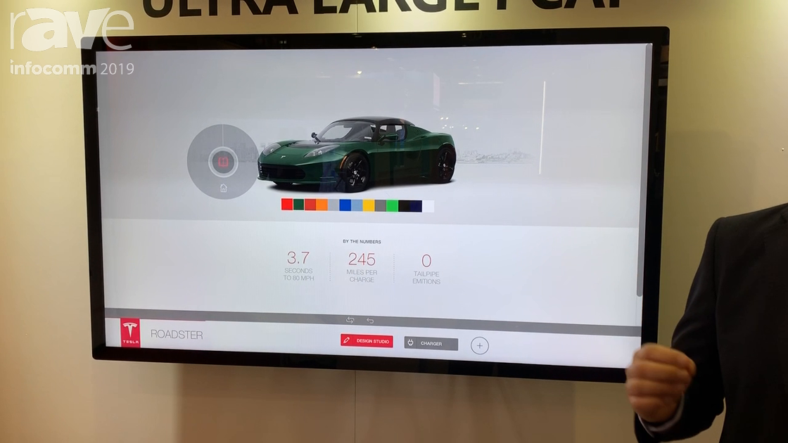InfoComm 2019: DISPLAX Unveils the Displax Mesh 55″ PCAP Touch Display